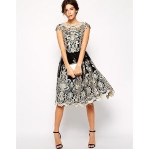 CHI CHI LONDON New Clara Tulle Embroidered Dress